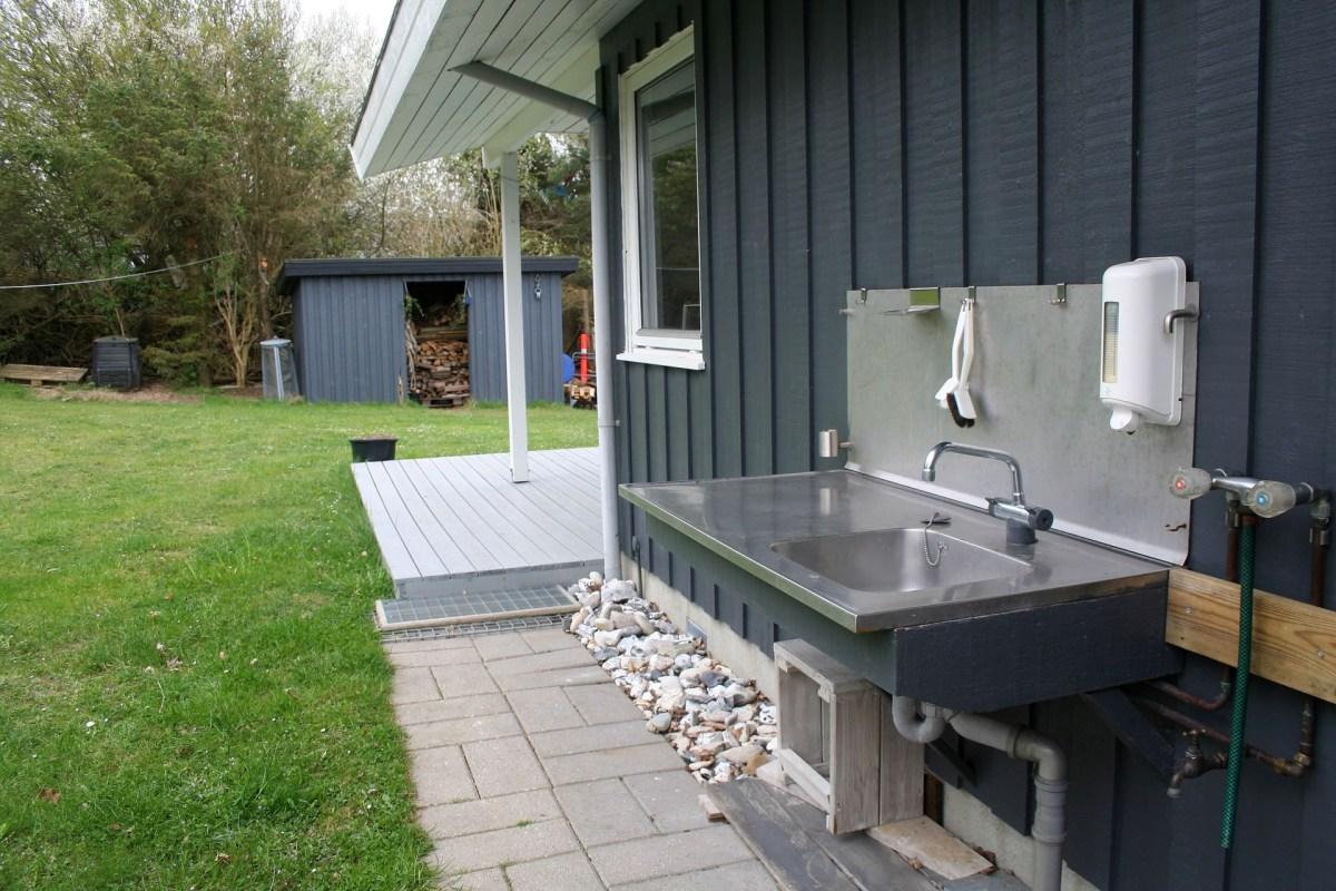Ferienhaus für Angler mit Fisch-Säuberungsplatz