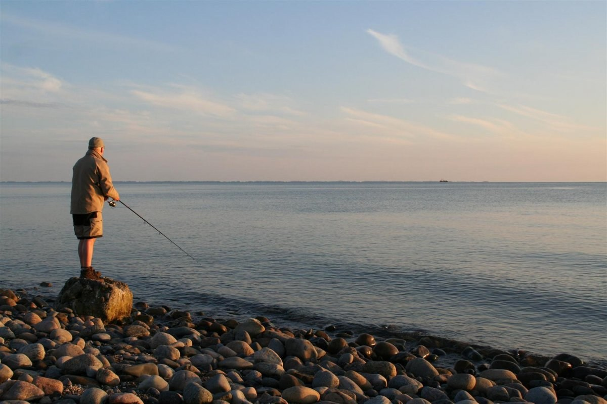 Angeln an der Südküste vor Sjællands Odde
