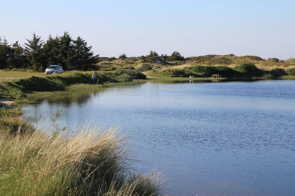 Angeln im Grærup Sø bei Vejers