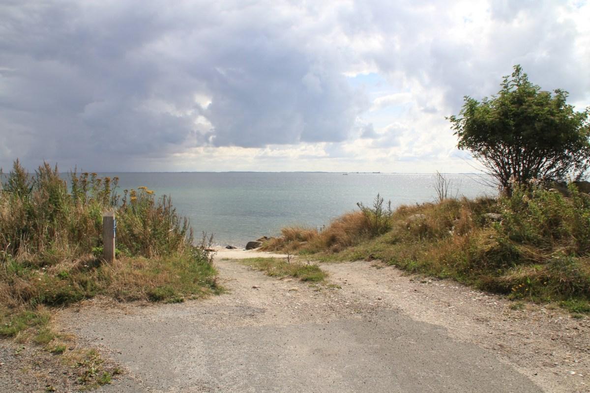 Platz zum Boot slippen auf Langeland Stengade Strand