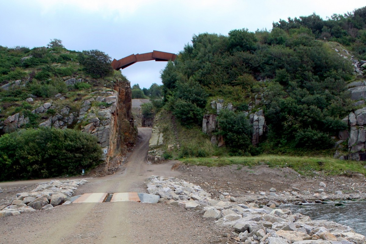 Angelplatz Vang - Mole am Steinbruch auf Bornholm