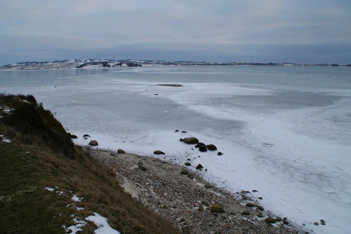 Angelplatz Kalø Slotsruin an der Kalø Vig