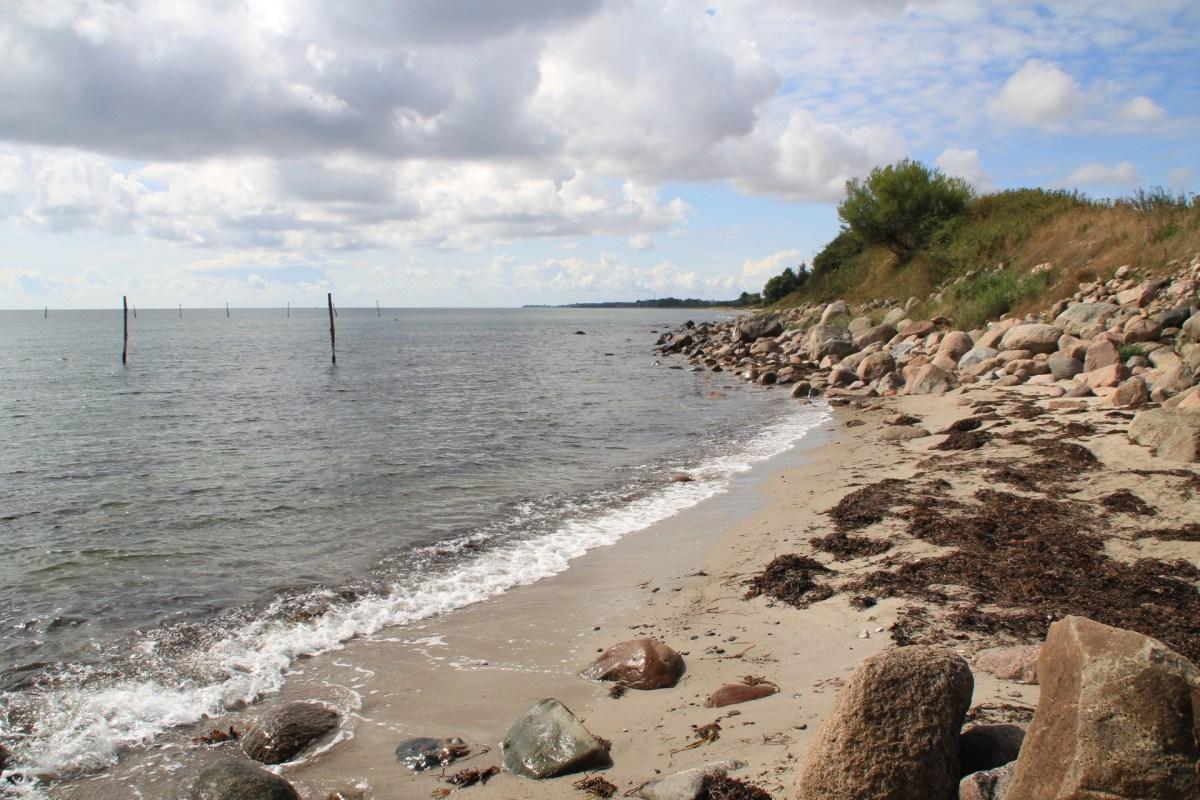 Angelplatz auf Langeland Stengade Strand