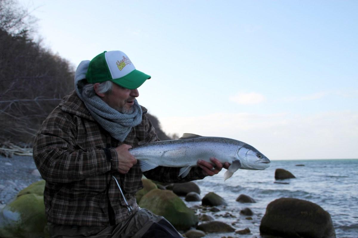Meerforellenangeln bei Hellehavn Nakke auf Møn