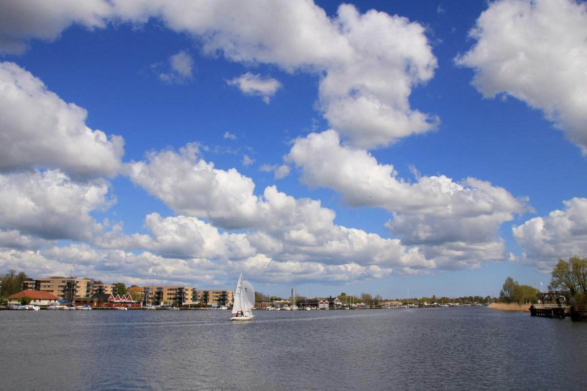 Angeln am Hafen von Randers