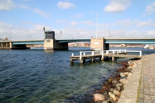 Angelplatz Egernsund Brücke an der Flensburger Förde