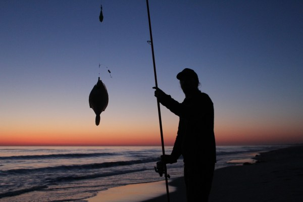 Plattfischangeln an der Nordsee bei Strandgården