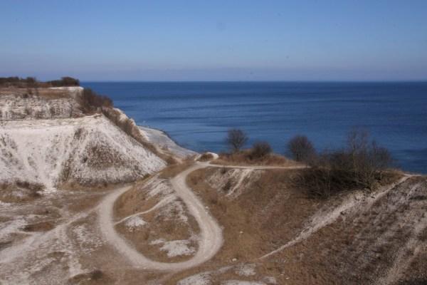 Angeln vor Stevns Klint bei Holtug Kridtbrud