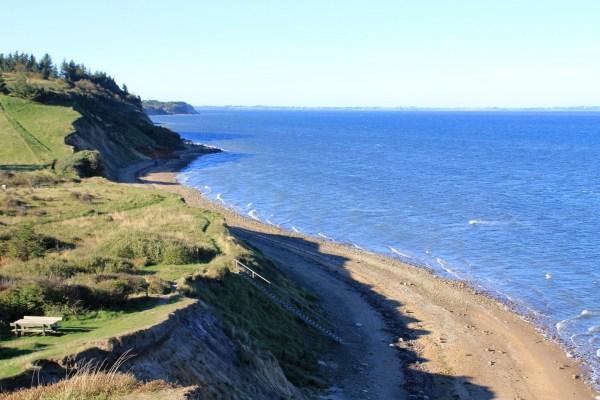 Angelplatz Den røde Sten auf der Insel Fur im Limfjord