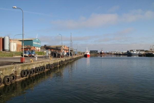 Angelplatz Nordhafen von Hvide Sande
