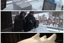 Meerforelle aus Schnee