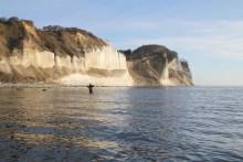 meerforellen angeln auf mön vor möns klint
