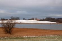 Angeln im Stege Nor auf Møn im Winter