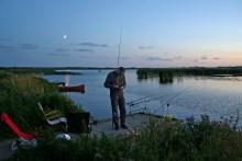 Aalangeln in Dänemark am Vilsted Sø