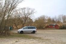 Parkplatz bei Holster Odde auf Bornholm
