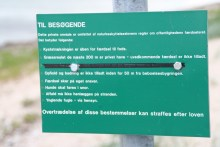 Schild am Angelplatz Kongsøre Næbbe am Isefjord auf Seeland
