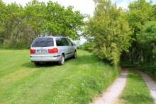 Parken beim Angelplatz Mogenstrup am Hvalpsund im Limfjord