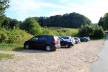 Parkplatz beim Angelplatz Jydelejet auf Møn