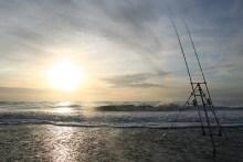 Brandungsangeln an der Nordsee bei Nymindegab