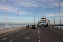 Fähre in Rørvig Havn am Isefjord in Nordseeland