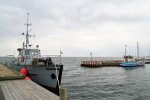 Angelkutter in Rørvig Havn am Isefjord in Nordseeland