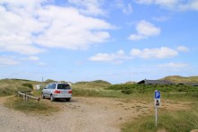 Parkplatz an der Nordsee bei Klegod