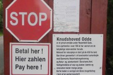 Parkplatz bei Knudshoved Odde
