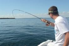 Makrelen-Drill an der Fliegenrute vor Sjællands Odde